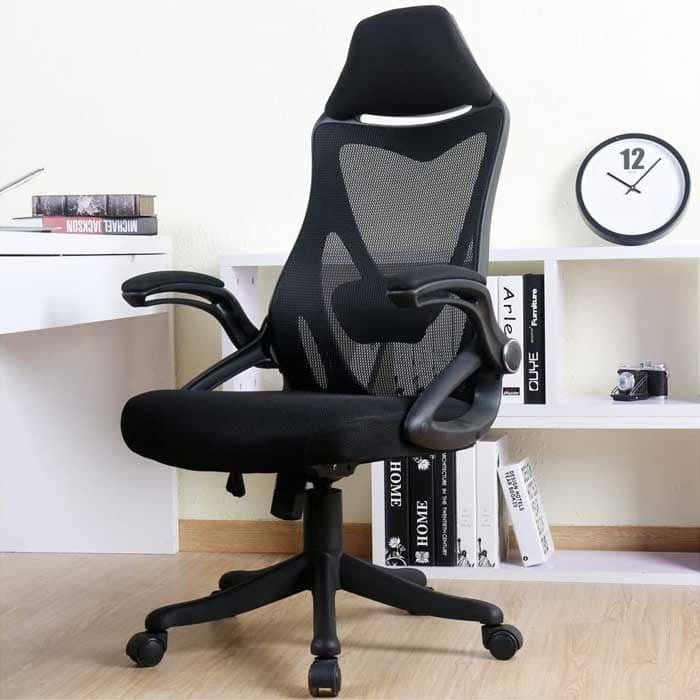 BERLMAN Ergonomic High Back with Adjustable Armrest Lumbar Support Headrest Swivel Task Desk Chair