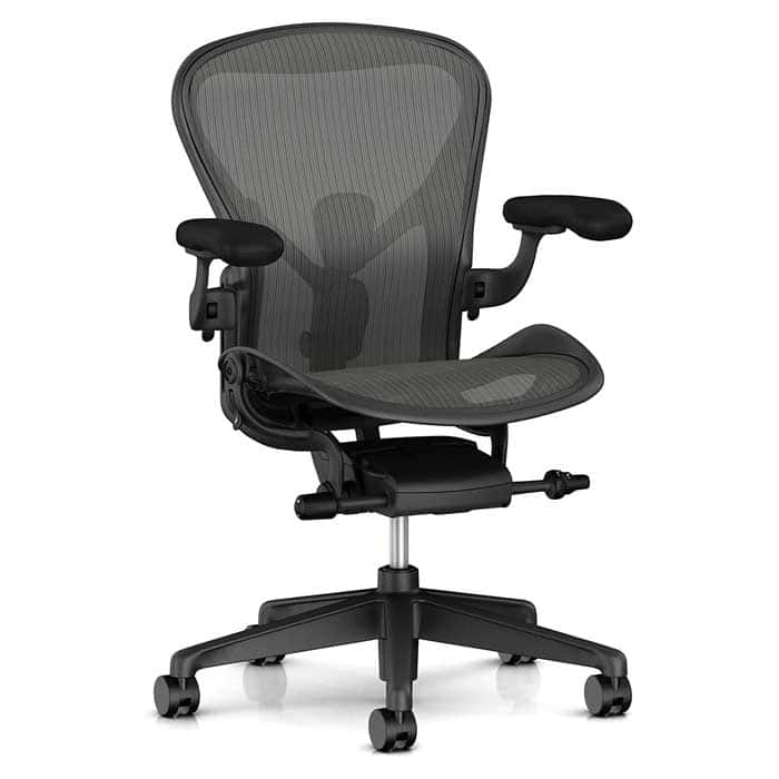 Herman Miller Aeron Ergonomic Office Chair with Tilt Limiter and Carpet Casters