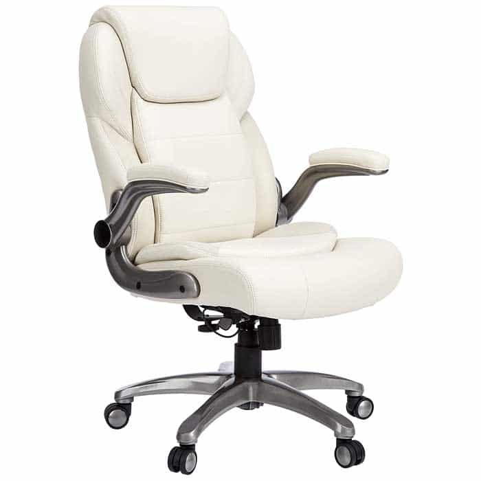 AmazonCommercial Ergonomic High Back Bonded Leather Executive Chair