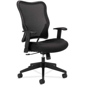 HON Wave Mesh High-Back Task Chair, with Height-Adjustable Arms