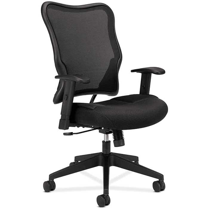 HON Wave Mesh High Back Task Chair with Height Adjustable Arms