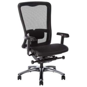 Office Star High Back Breathable ProGrid Back and Seat Adjustable Black Managers Chair