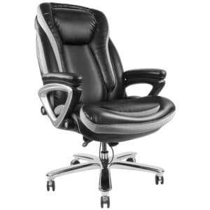 SMUGDESK SmugChair Large Leather Executive High Back Office Chair with Headrest and Armrest