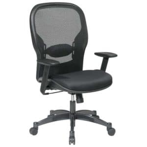 SPACE Seating Breathable Mesh Black Back and Padded Mesh Seat