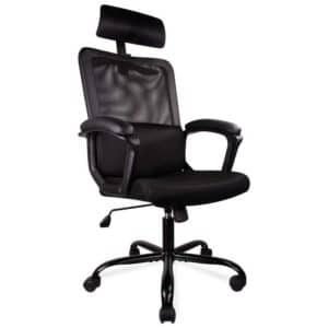 Smugdesk Office Chair, High Back Ergonomic Mesh Desk Office Chair with Padding Armrest and Adjustable Headrest