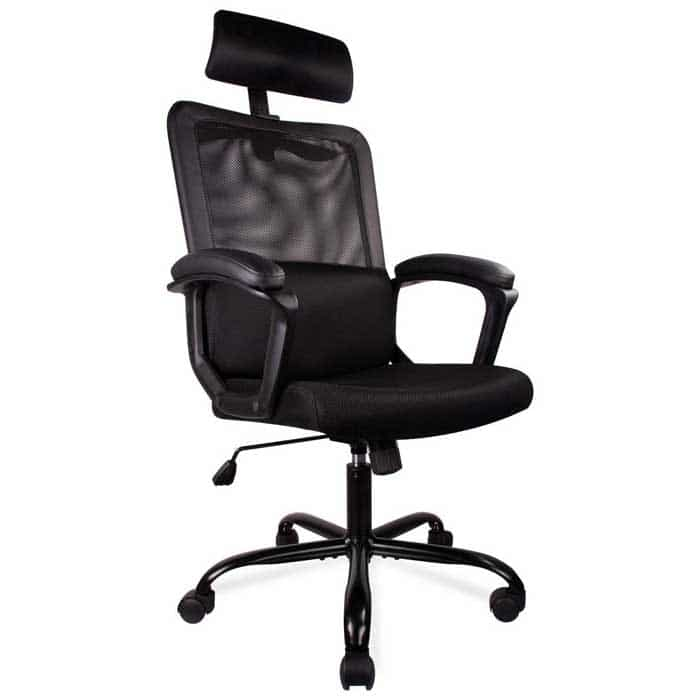 Smugdesk Office Chair High Back Ergonomic Mesh Desk Office Chair with Padding Armrest and Adjustable Headrest