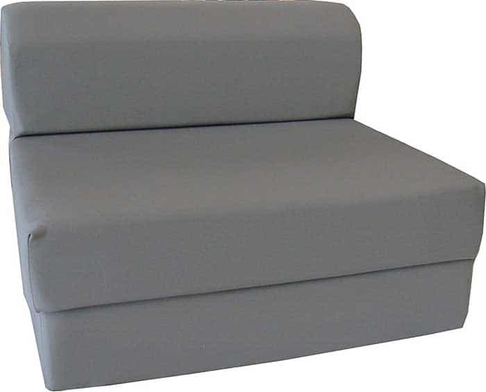 D and D Futon Furniture Gray Sleeper Chair