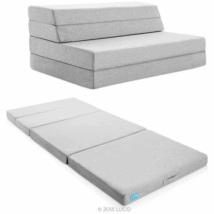 Lucid LU04TXFSGF2 4 inch Folding Mattress and Sofa