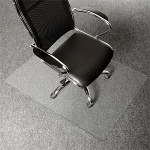 AmazonBasics Polycarbonate Office Carpet Chair Mat for Thick Carpets