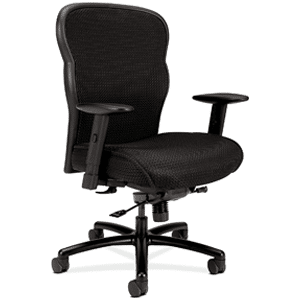 HON Wave Big and Tall Executive Mesh Office Chair with Adjustable Arms