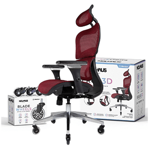 NOUHAUS Ergo3D Ergonomic Office Chair - Rolling Desk Chair with 4D Adjustable Armrest