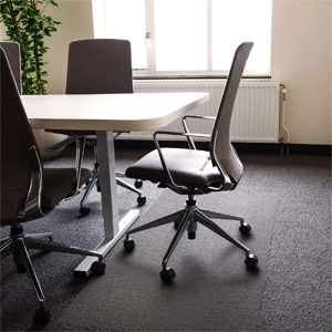Floortex Polycarbonate XXL Office Mat for All Pile Carpets
