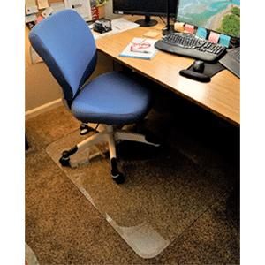 Glass Chair Mat For Hardwood and Carpet Floor
