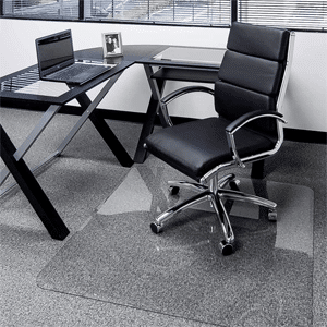 Glass Chair Mat with Exclusive Beveled Edge by Clearly Innovative