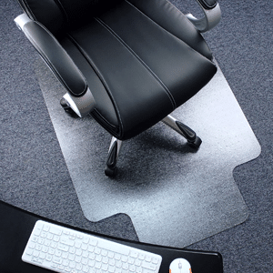 Heavy Duty Polycarbonate Office Chair Mat with Lip for Carpets
