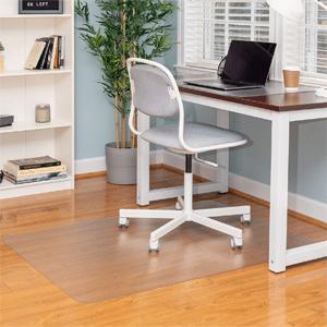 Ilyapa Office Chair Mat for Hard Floors Heavy Duty Clear