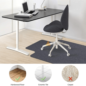 SALLOUS Chair Mat for Hard Floors Office Chair Mat with Lip for Hardwood Floor