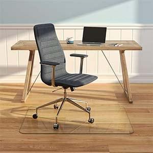 best glass chair mat for hardwood floors